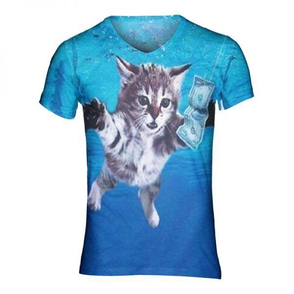 Nirvana kattenshirt in vhals