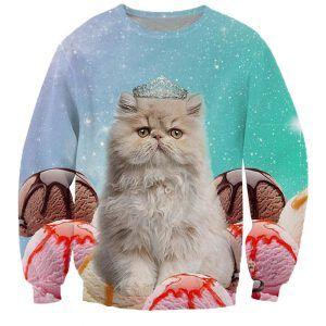 foute trui met een kat en ijsjes