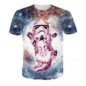 stormtrooper helm op een kat in galaxy