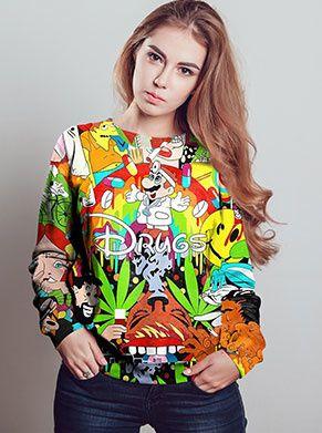 drugs zijn slecht trui met wiet lsd xtc en dr mario festival trui foute kleding
