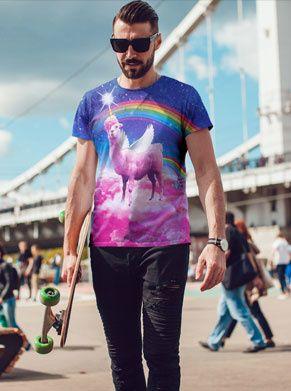 swag lama regenboog festivalshirt, ideaal voor iedereen die wil opvallen met foute kleding