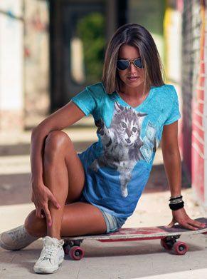 nirvana nevermind shirt in kattenvorm. tof festivalshirt