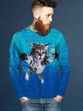 Nirvana nevermind trui met een kat voor mannen foute kleding