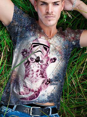 Stormtrooper kat kitten festival shirt star was galaxy
